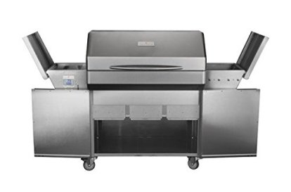 Memphis-Grills-Elite-Wood-Fire-Pellet-Smoker-Grill-with-Wi-Fi-VG0002S-Freestanding-304-Stainless-Steel-Alloy