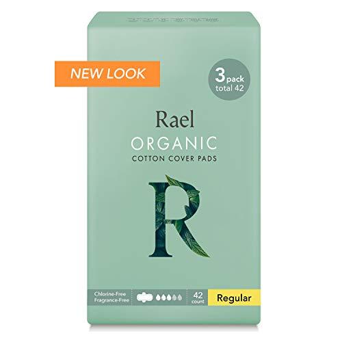 Rael Certified Organic Cotton Menstrual Regular Pads, Ultra Thin Natural Sanitary Napkins with Wi…