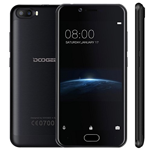 DOOGEE Shoot 2 1GB + 8GB 5.0 Inch Android 7.0 MTK6580A Quad Core 1.3GHz-1.5GHz WCDMA & GSM (Black)