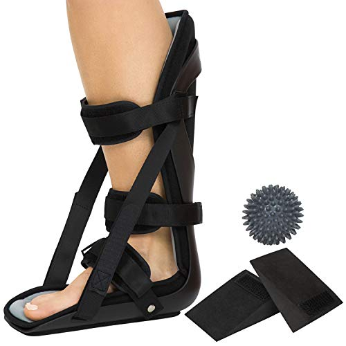 Vive Hard Plantar Fasciitis Night Splint and Trigger Point Spike - Stabilizer Brace Relieves...