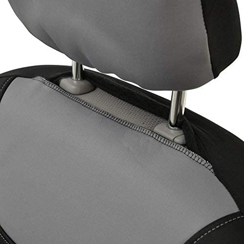 Motor Trend AquaShield Car Seat Covers for Front Seats, Gray – 3 Layer Waterproof Seat Covers, Neoprene Material with Modern Sideless Design, Universal Fit for Auto Truck Van SUV 16