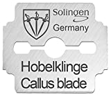 3 Swords Germany, brand quality 80 PIECES replacement refill spare blades for corn plane callus remover shaver cutter eliminator razor, professional pedicure foot care MADE in Solingen GERMANY (02808)
