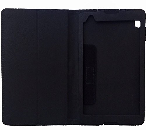 KANICT Tablet Leather Front & Back Flip Flap Case Cover for Lenovo Tab4 8 Plus TB-8704X (Black) 5