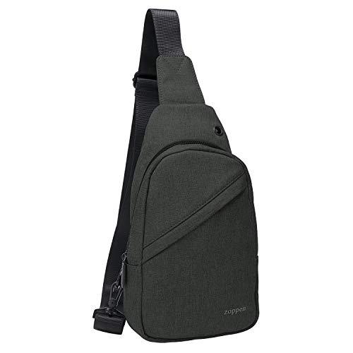 Zoppen Sling Backpack Bag Travel Wear Over Shoulder Rucksack Chest Bag Crossbody for Men Women, 01Black