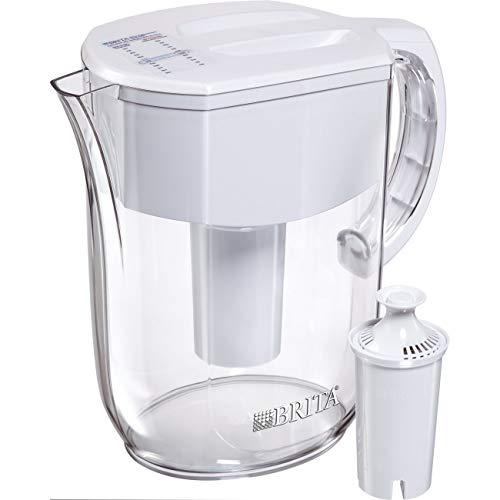 Brita Pitchers 1.00603E+13 Large 10 Cup 1 Standard Filter, BPA Free – Everyday Brita Water Pitcher, w 1 std, White