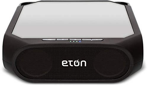 Eton Rugged Rukus The solar-powered, Bluetooth-ready, smartphone-charging speaker, Black, NRKS200B