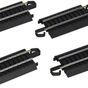 Bachmann Trains – Snap-Fit E-Z TRACK 3″ STRAIGHT TRACK (4/card) – STEEL ALLOY Rail With Black Roadbed – HO Scale 41Hn4owbQTL
