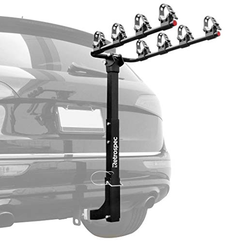 Retrospec Lenox Car Hitch Mount Bike Rack with 2-Inch Receiver; 4 Bicycle Carrier
