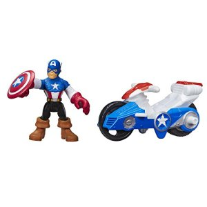 Playskool Heroes Marvel Super Hero Adventures Captain America Figure with Shield Racer Vehicle 41HrKKkRxEL