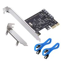 MHQJRH PCI Express SATA 3.0 Controller Card, 2-Port PCIe to SATA III 6GB / s Built-in Adapter Converter, PCI-E to SATA 3…