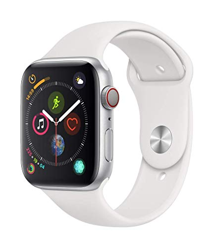 AppleWatch Series4 (GPS+Cellular, 44mm) - Silver Aluminum Case with White Sport Band