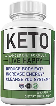 Trim Fast Keto Keto Advanced Diet Pills Live Happy, Trim Fast Keto Pills - Keto Body Trim Fast Burn Supplement for Energy - BHB Ultra Boost Exogenous Ketones for Rapid Ketosis for Men Women 3
