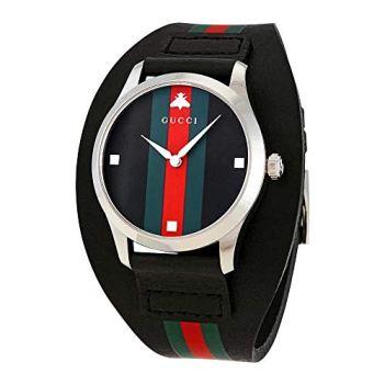Gucci G-Timeless Leather Cuff Watch YA1264092