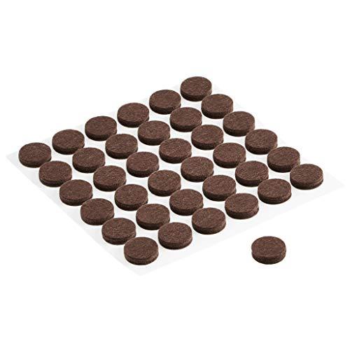 "AmazonBasics ¾"" circle Felt Furniture Pads, Brown, 180-piece"