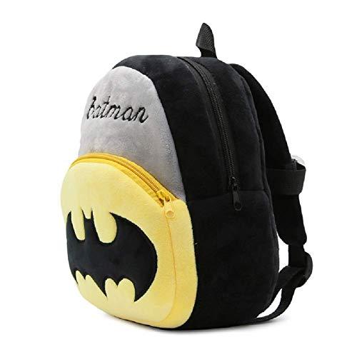41Hyzc5gg3L - Black Hill Cute Kids Backpack Toddler Bag Plush Animal Cartoon Mini Travel Bag for Baby Girl Boy 1-6 Years (Batman)