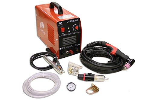 Lotos LTP5000D 50Amp Non-Touch Pilot Arc Plasma Cutter, Dual Voltage 110V/220V, 1/2 Inch Clean Cut, Bronze