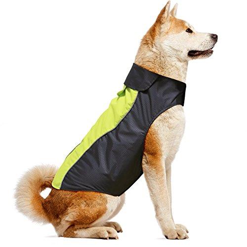 Vizpet Dog Raincoat Waterproof Lightweight & High Visibility Dog Coat Jacket for Small Medium Large Dogs 1
