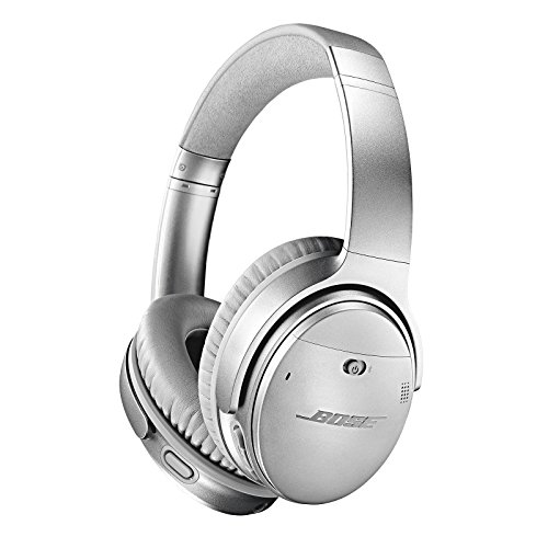 Bose QuietComfort 35 II Wireless Bluetooth Headphones, Noise-Cancelling, with Alexa voice control, enabled with Bose AR - Silver, One Size - 789564-0020