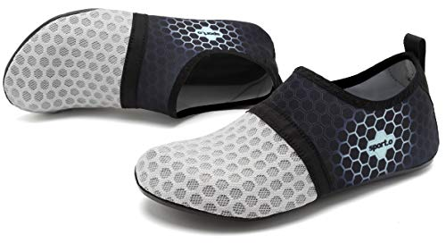 0846032256fd62 AoSiFu Barefoot Water Shoes Aqua Socks Surf Pool Yoga Beach Swim ...