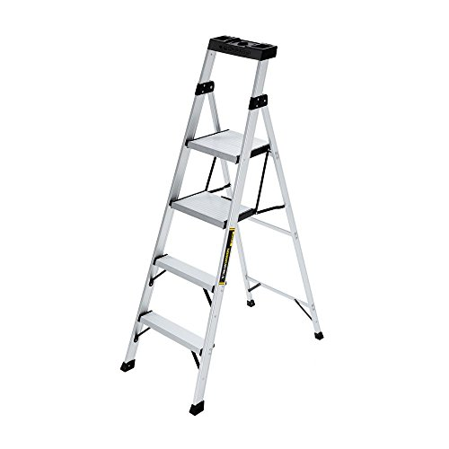 Gorilla Ladders 5.5 ft. Aluminum Hybrid Ladder with 250 lb. Load Capacity Type I Duty Rating