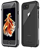 Oterkin iPhone 7/8 Waterproof Case, 2019 All Condition Applicable Full Body Protective Shockproof Sandproof Dirtproof IP68 Underwater Outdoor Waterproof Case for iPhone 7 & iPhone 8(4.7) (Black/Clear)