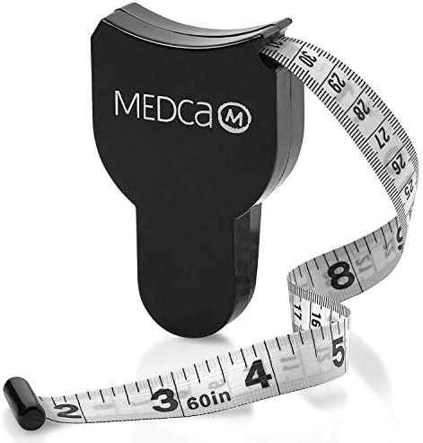 Body Fat Caliper and Measuring Tape for Body - Skinfold Calipers and Body Fat Tape Measure Tool for Accurately Measuring BMI Skin Fold Fitness and Weight-Loss - Upgraded New Design (Black) 3