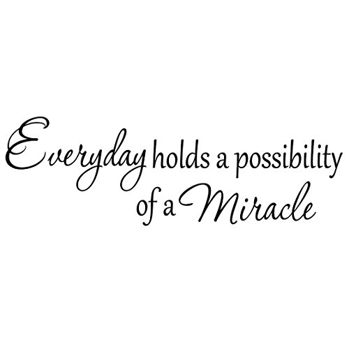 Everyday Holds a Possibility of a Miracle Wall Decal Inspirational Vinyl Lettering Faith Quote Home Decor Stickers