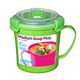 Sistema 21107ZS Microwave Soup Mug, 2.8 Cup, Medium, Assorted