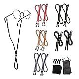 10 Pack Eyeglasses Holder Straps Cord - Leather Eyeglasses String Holder Chain - Glasses Cord Lanyard - Eyeglass Retainer
