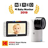 KODAK Cherish C525 Video Baby Monitor with Mobile App - 5' HD Screen - Hi-res Baby Camera with Remote Tilt, Pan and Zoom, Two-Way Audio, Night-Vision, Long Range - WiFi Indoor Camera