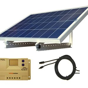 100 Watt 12V Solar Panel Kit + Adjustable Mount RV, Cabin, Off-Grid Battery