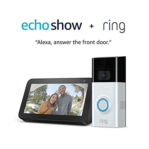Ring Video Doorbell 2 with Echo Show 5 (Charcoal) 1