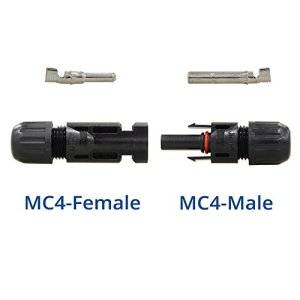 RENOGY MC4 Male/ Female Solar Panel Cable Connectors Double Seal Rings for Better Waterproof Effect