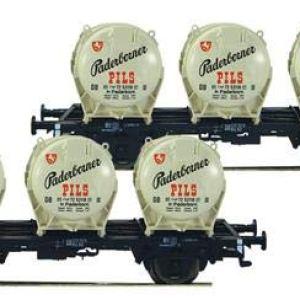 Fleischmann 823304 DB Padernborner Pils Round Container Wagon Set (2) III 41IScjNSg5L