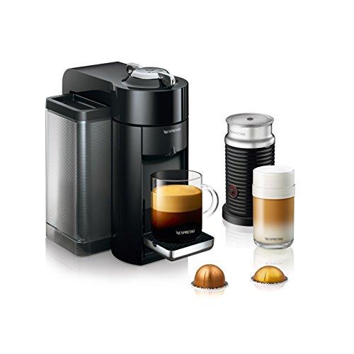 Nespresso by De'Longhi ENV135BAE Coffee and Espresso Machine Bundle with Aeroccino Milk Frother, Black