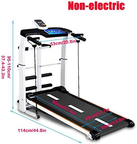 NBSR Folding Treadmill for Home,Treadmills for Women 340lbs Weight Capacity Silent Treadmill Folding Shock Running, Supine, Twisting, Draw Rope 4-in-1 Mechanical Mini Walking Machine 2