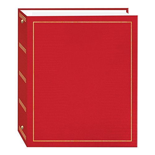 Pioneer Photo Albums 100 Page Leatherette with Gold Stamped Cover 3-Ring Magnetic Album
