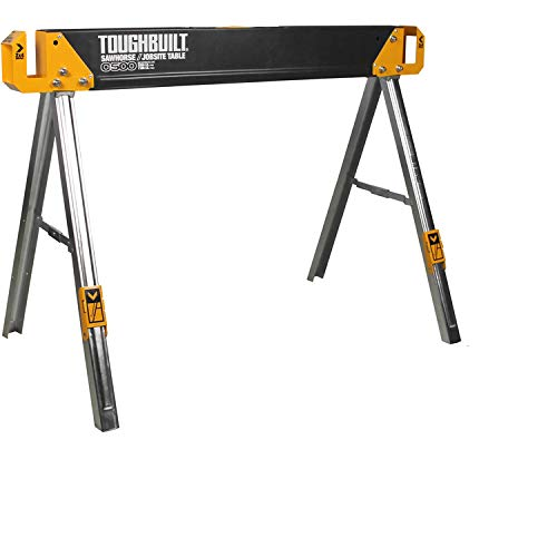 Toughbuilt TB-C500 Sawhorse with 2x4 Support Arms 1100 LB Capacity