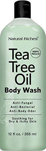 Antifungal TeaTree Oil Body Wash, Peppermint &...