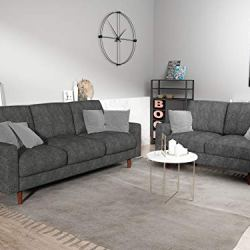 US Pride Furniture Obadiah Sofa, Grey