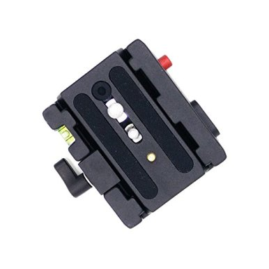 Manfrotto-501PL-Rapid-Connect-Sliding-Plate-with-14-and-38-Camera-Fixing-ScrewsBlack
