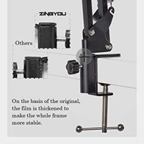 ZINGYOU-Condenser-Microphone-Bundle-ZY-007-Professional-Cardioid-Studio-Condenser-Mic-Include-Adjustable-Suspension-Scissor-Arm-Stand-Shock-Mount-and-Pop-Filter-Studio-Recording-Broadcasting