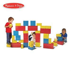 Melissa & Doug Jumbo Extra-Thick Cardboard Building Blocks – 40 Blocks in 3 Sizes 41IdAw3sV5L