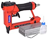 Pneumatic Upholstery Staple Gun, 22 Gauge 3/8' Wide Crown Air Stapler Kit, by 1/4-Inch to 5/8-Inch, with 6000 staples