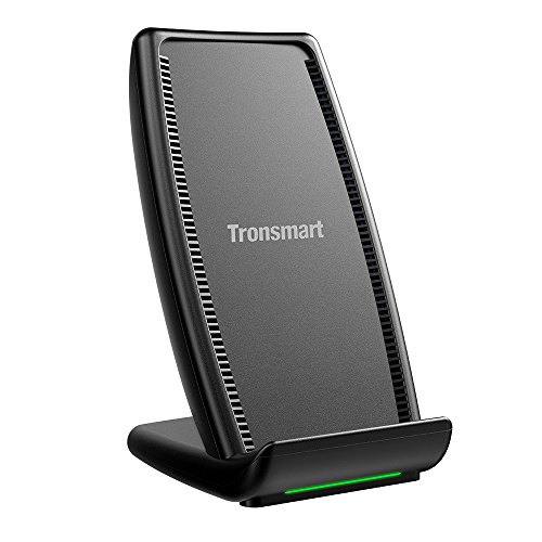 iPhone X Wireless Charger,Tronsmart AirAmp Dual Coil Fast Wireless Charger with Fan, Type-C Port Charging Stand for iPhone 8/8 Plus & iPhone X and Samsung Galaxy series