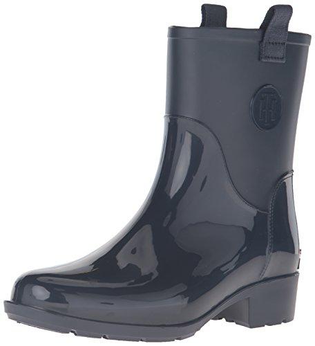 Tommy Hilfiger Women's Khristie Rain Boot, Marine, 6 M US