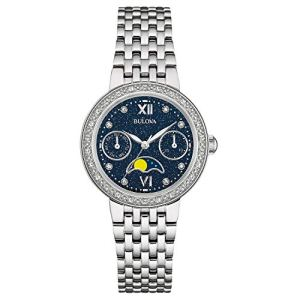 Bulova Women's Quartz Watch with Stainless-Steel Strap, Silver, 16 (Model: 96R210