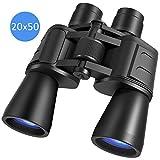 Binoculars for Adults 20X50, Wide Angle Professional Binoculars with BAK4 Prism FMC Lens, Powerful Clear Binoculars for Bird Watching, Hunting, Travel, Sports, Stargazing