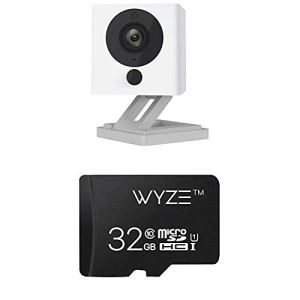 Wyze Cam 1080p HD Indoor Wireless Smart Home Camera with Night Vision, 2-Way Audio (Pack of 2) & SanDisk Ultra 64GB microSDXC UHS-I card with Adapter – 100MB/s U1 A1 – SDSQUAR-064G-GN6MA