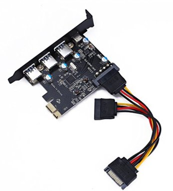 PCI-E-to-USB-30-Type-C-3-Type-A-Expansion-Card-Interface-USB-30-4-Port-Express-Card-Desktop-with-15-pin-SATA-Power-Connector-Include-with-A-4pin-to-2x15pin-Cable-A-15pin-to-2x-15pin-SATA-Y-C